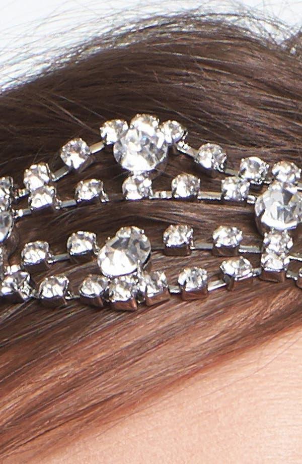 Alternate Image 2  - Tasha 'Rhinestone Garland' Head Wrap
