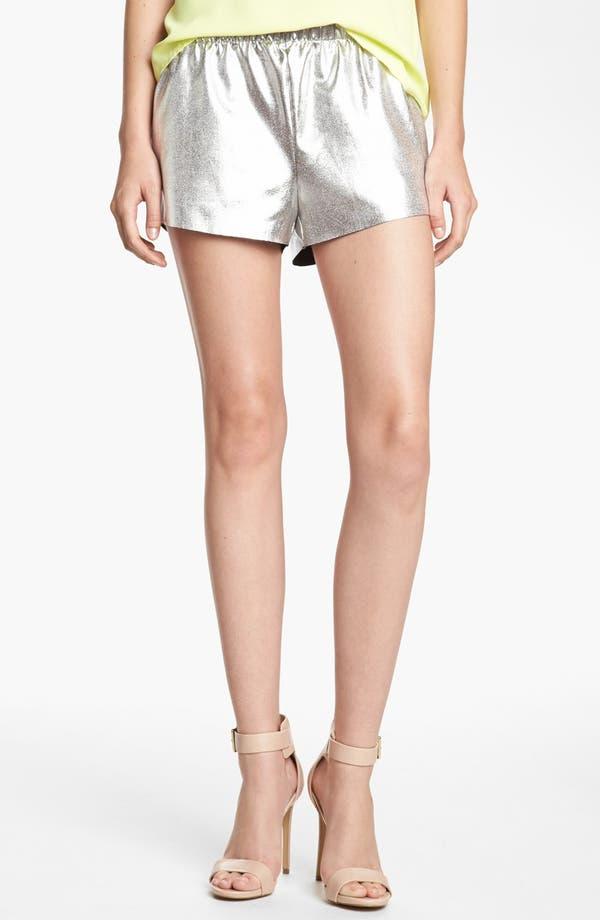 Main Image - Leith 'Cosmic' Metallic Tap Shorts