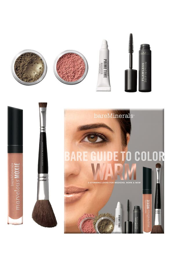 Main Image - bareMinerals® 'Bare Guide' Warm Color Kit ($94 value)