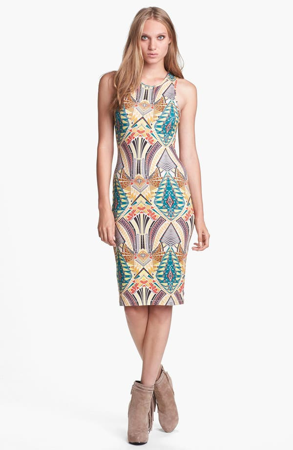 Alternate Image 1 Selected - WAYF Print Body-Con Tank Dress