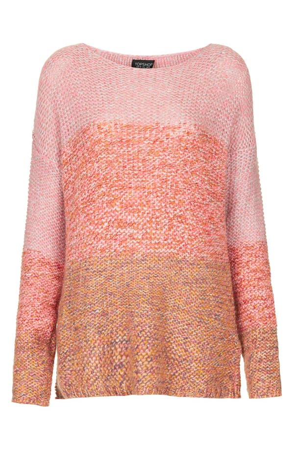 Alternate Image 3  - Topshop 'Lulu' Ombré Marled Sweater