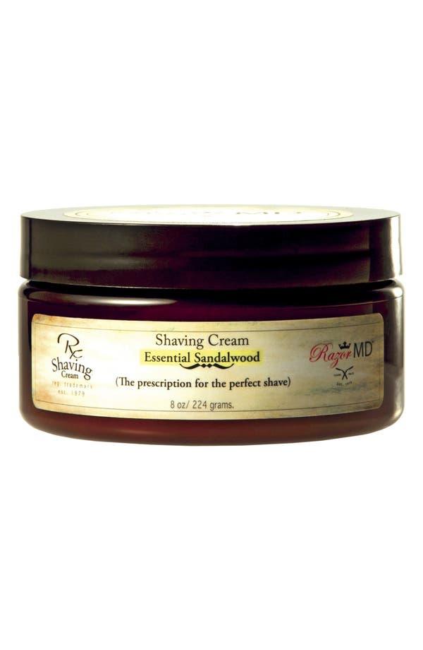 Main Image - Razor MD® 'Essential Sandalwood' Shaving Cream