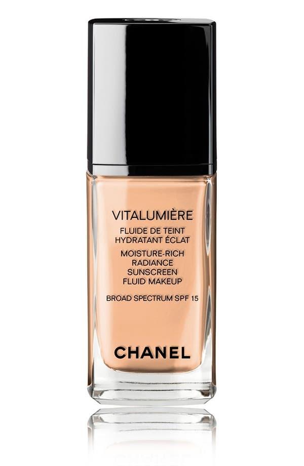 Alternate Image 1 Selected - CHANEL VITALUMIÈRE  Moisture-Rich Radiance Sunscreen Fluid Makeup Broad Spectrum SPF 15