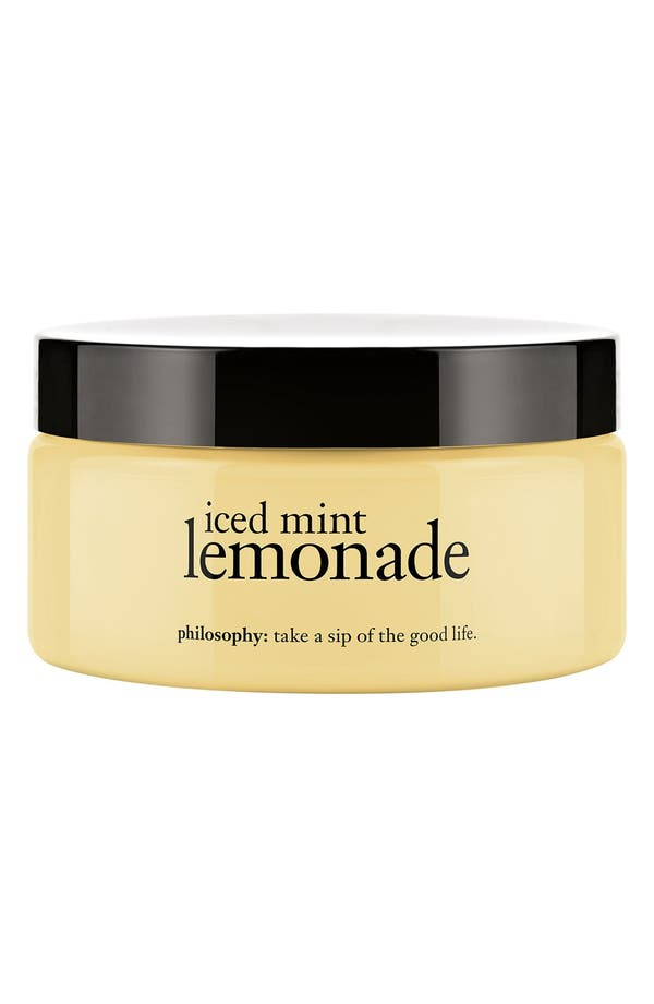 Alternate Image 1 Selected - philosophy 'iced mint lemonade' glazed body soufflé (Limited Edition)