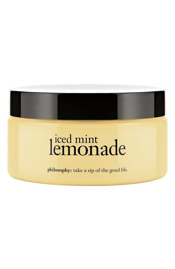 Main Image - philosophy 'iced mint lemonade' glazed body soufflé (Limited Edition)