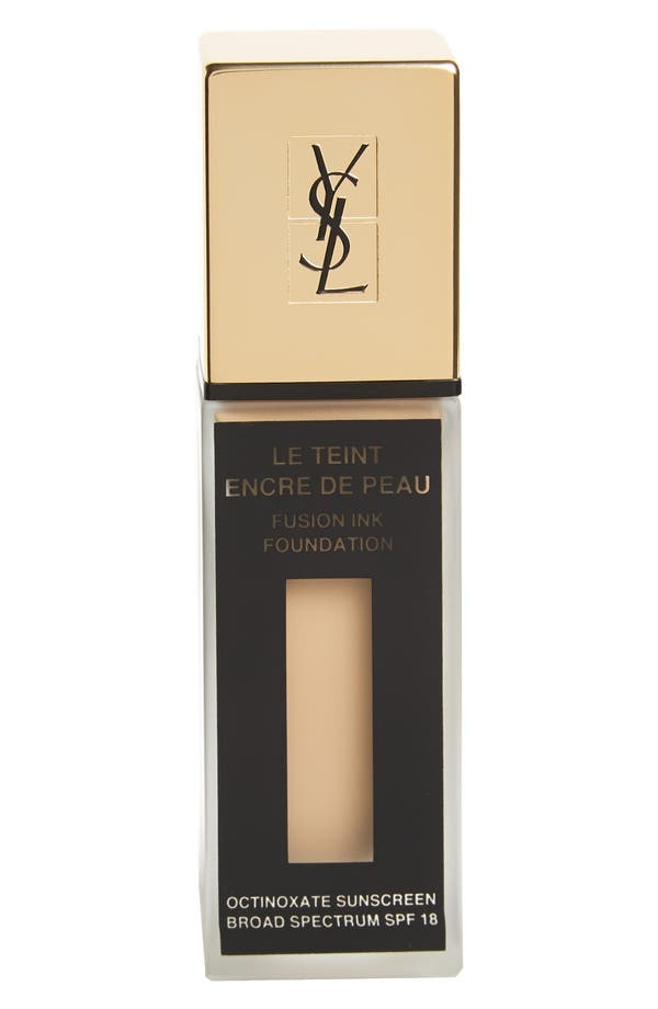 Alternate Image 1 Selected - Yves Saint Laurent 'Fusion Ink' Foundation Broad Spectrum SPF 18