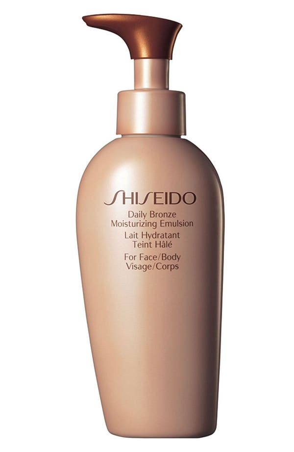 Alternate Image 1 Selected - Shiseido 'Daily Bronze' Moisturizing Emulsion