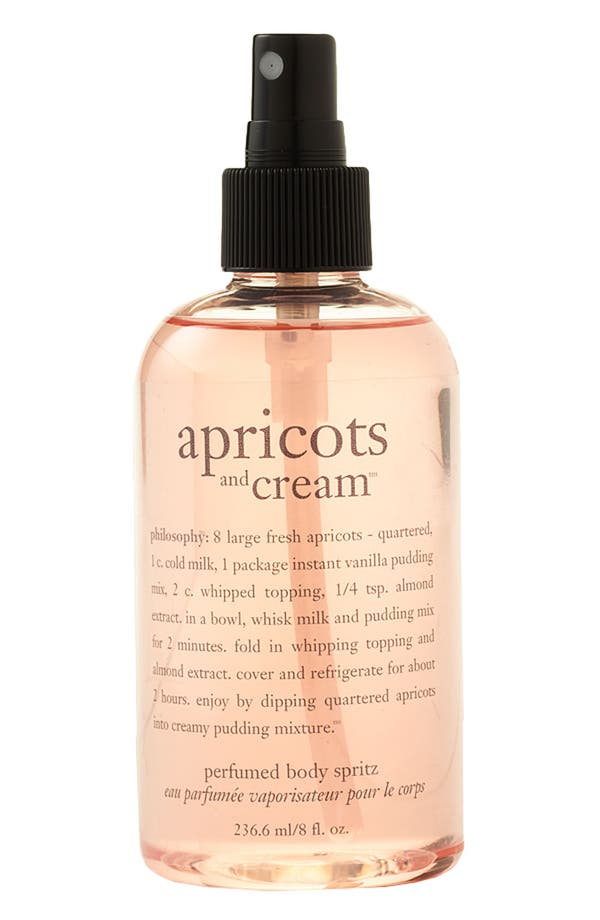 Main Image - philosophy 'apricots and cream' perfumed body spritz