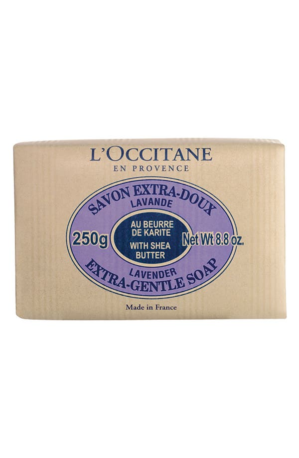 Alternate Image 1 Selected - L'Occitane 'Lavender' Shea Butter Extra Gentle Soap
