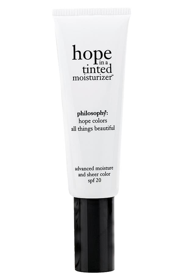 Main Image - philosophy 'hope in a tinted moisturizer' advanced moisture and sheer color spf 20