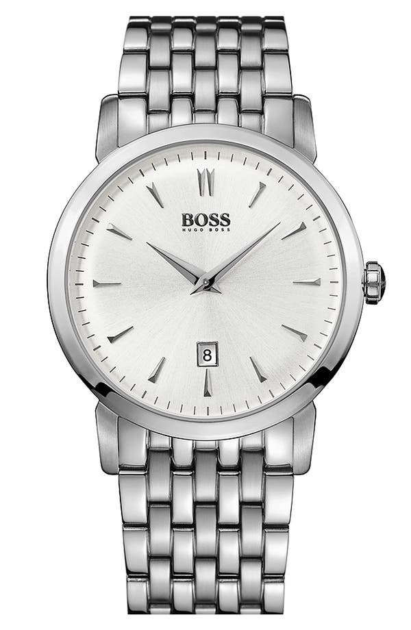 Alternate Image 1 Selected - BOSS HUGO BOSS Round Bracelet Watch, 40mm