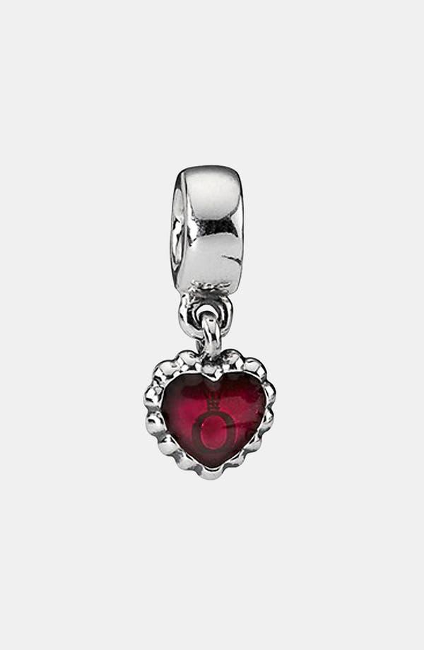 Alternate Image 1 Selected - PANDORA Logo Heart Dangle Charm