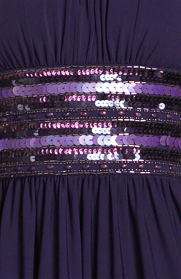Alternate Image 3  - JS Boutique Embellished Matte Jersey Halter Dress (Petite)
