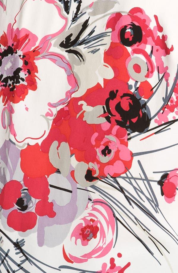 Alternate Image 3  - Citron Floral Silk Tunic (Plus)