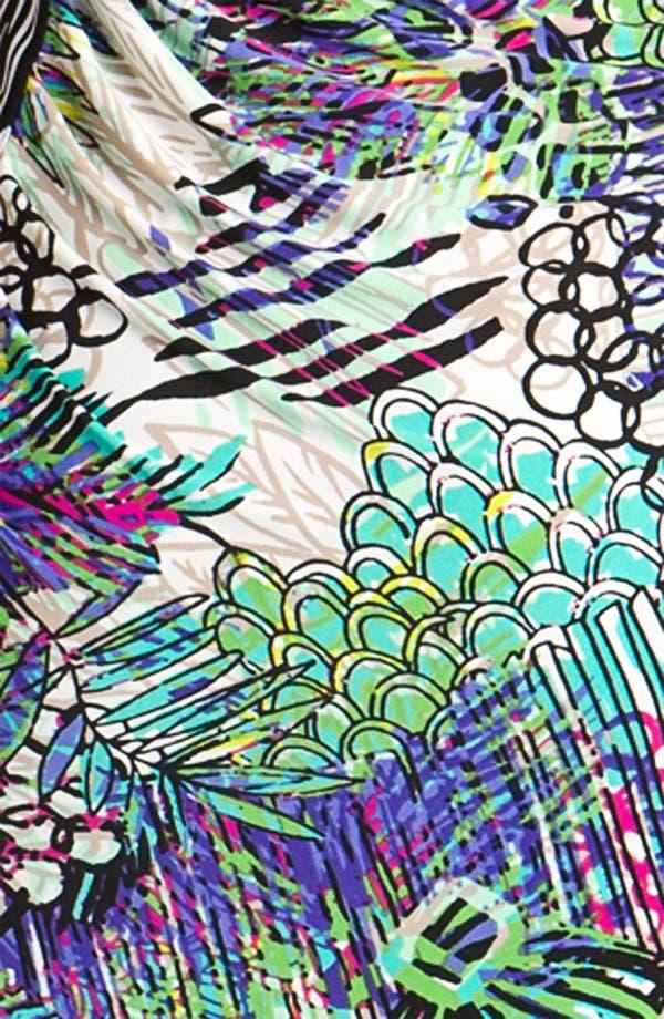 Alternate Image 3  - Laundry by Shelli Segal One Shoulder Contrast Print Jersey Dress
