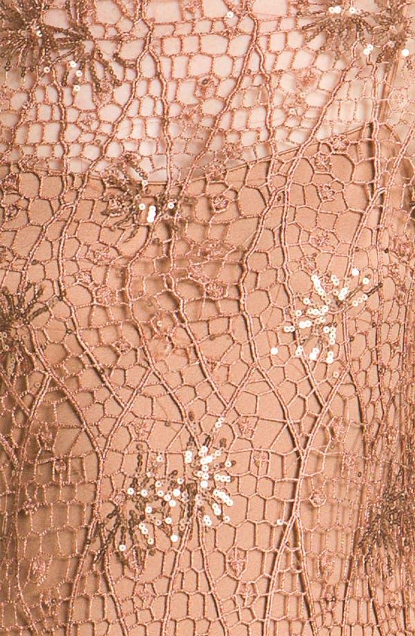 Alternate Image 3  - Kay Unger Metallic Crochet Overlay Slipdress