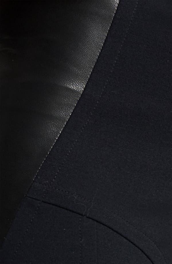 Alternate Image 3  - Yigal Azrouël Leather Panel Ponte Leggings