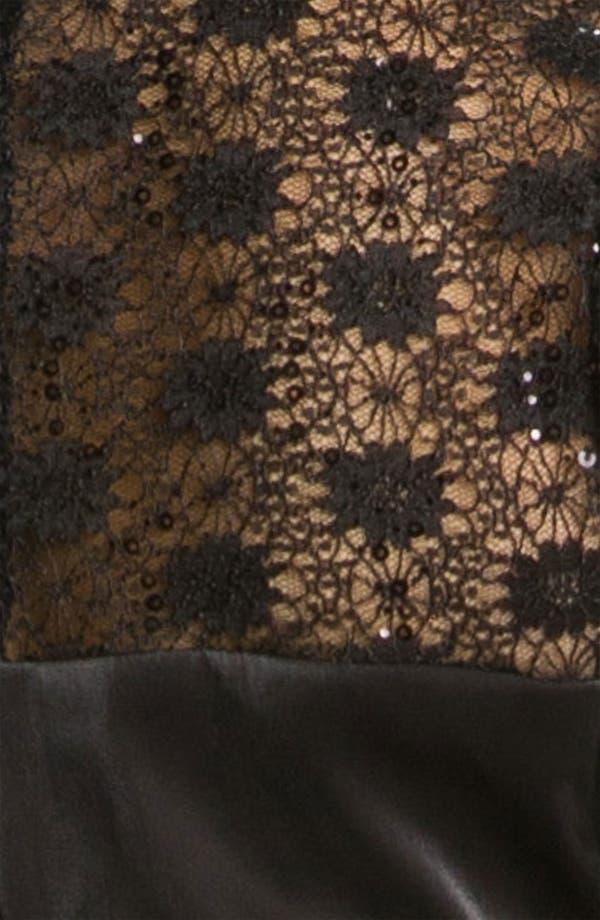 Alternate Image 3  - Alex Evenings Lace Trim Satin Sheath Dress (Plus)