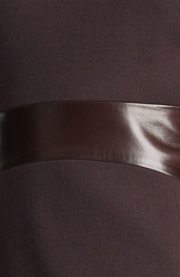 Alternate Image 3  - Michael Kors Leather Waist Bouclé Crepe Dress