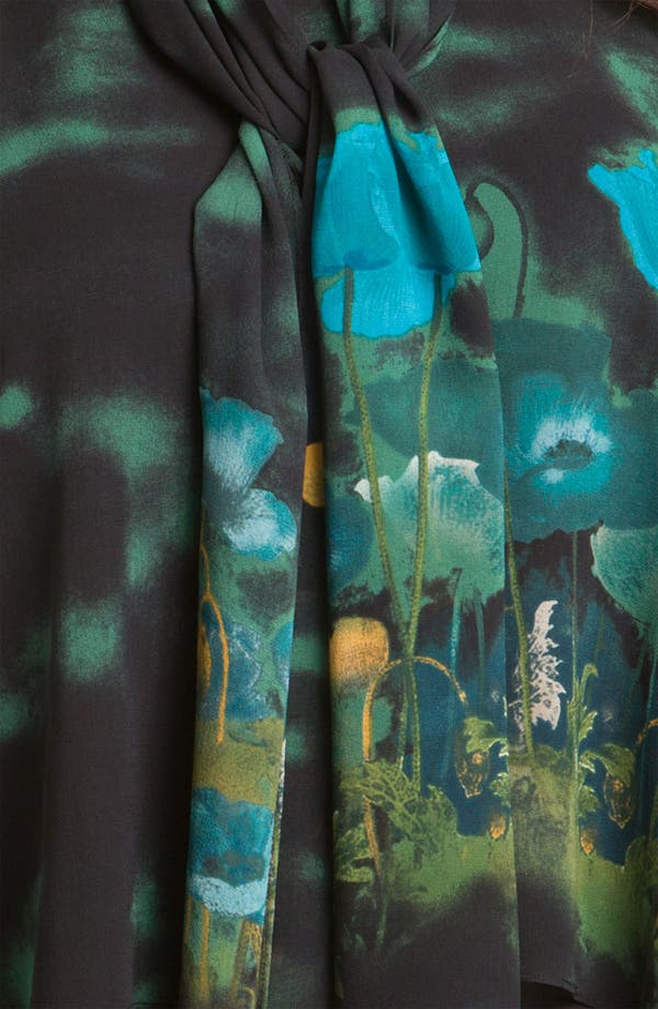 Alternate Image 3  - Citron Print Silk Tunic & Scarf (Plus)