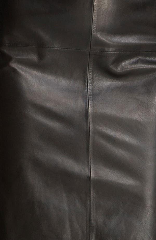 Alternate Image 3  - BOSS Black Leather Skirt