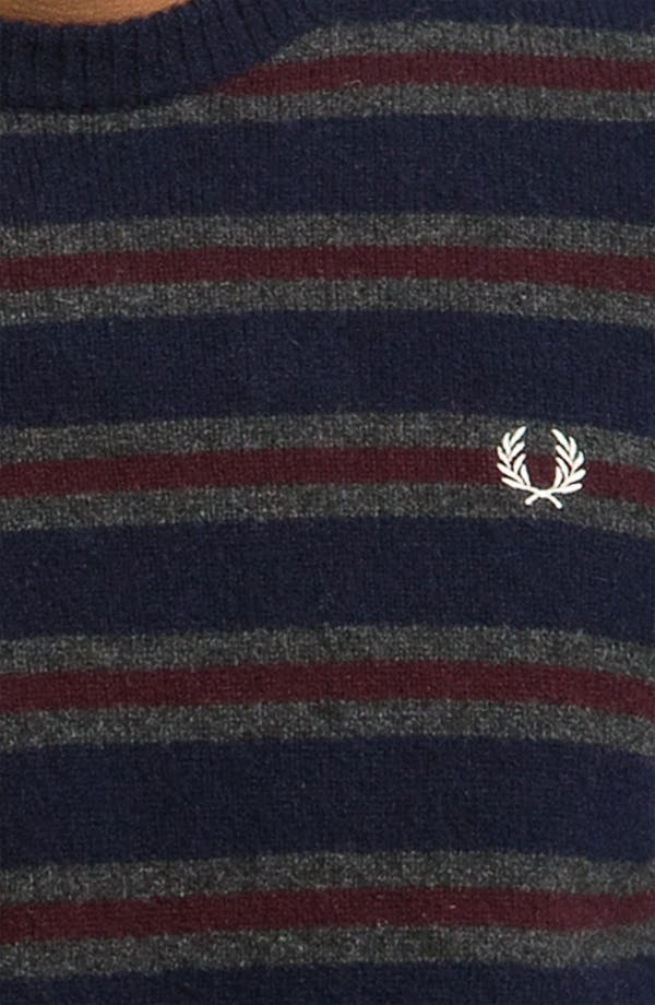 Alternate Image 3  - Fred Perry Stripe Boiled Lambswool Sweater