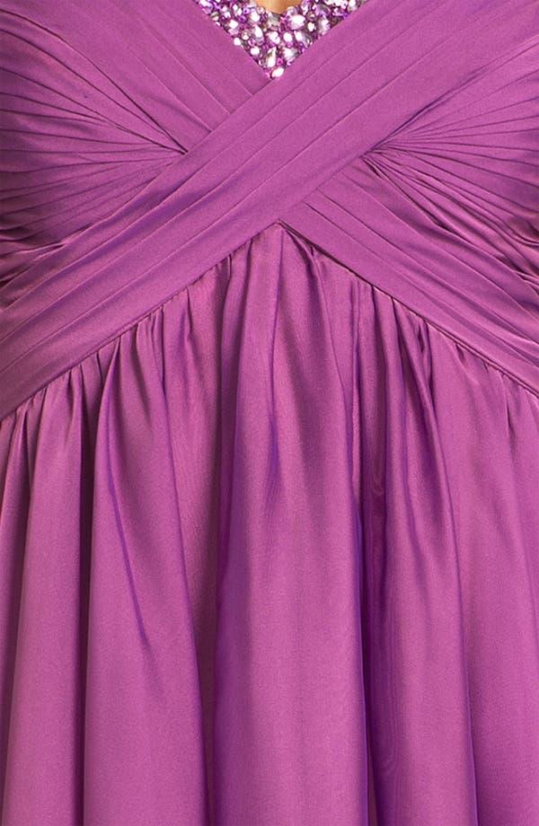 Alternate Image 3  - La Femme Strapless Cutout Back Chiffon Dress