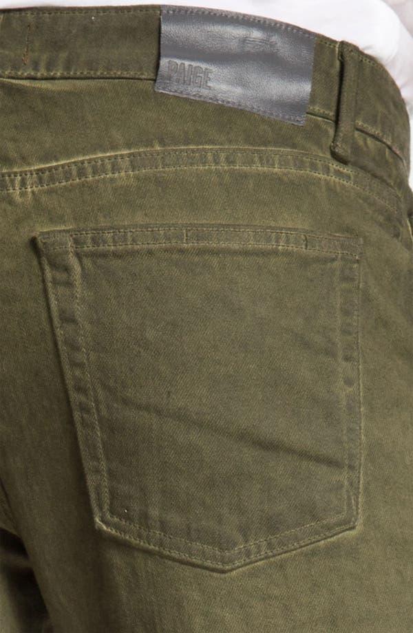 Alternate Image 4  - PAIGE 'Normandie' Straight Leg Jeans (Bayou)