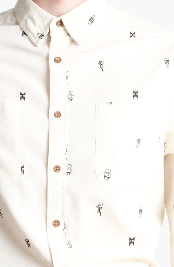 Alternate Image 3  - Topman 'Tiki Man' Woven Shirt