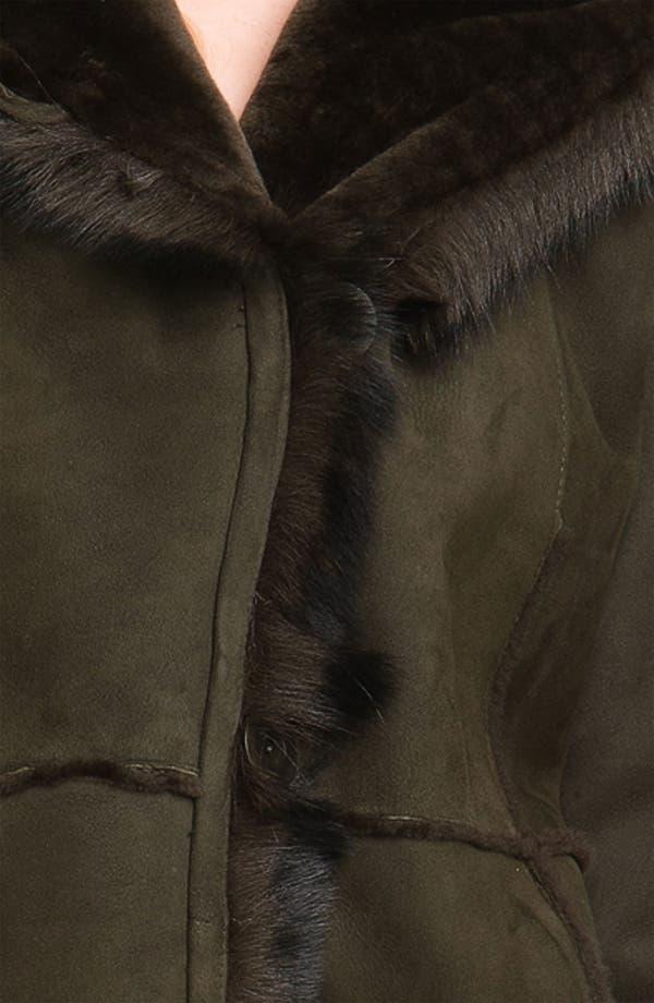 Alternate Image 3  - Blue Duck Genuine Shearling Hooded Jacket