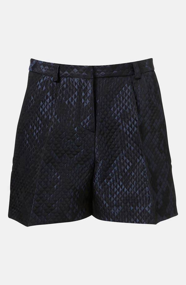 Alternate Image 1 Selected - Topshop Boutique Lustrous Quilted Shorts