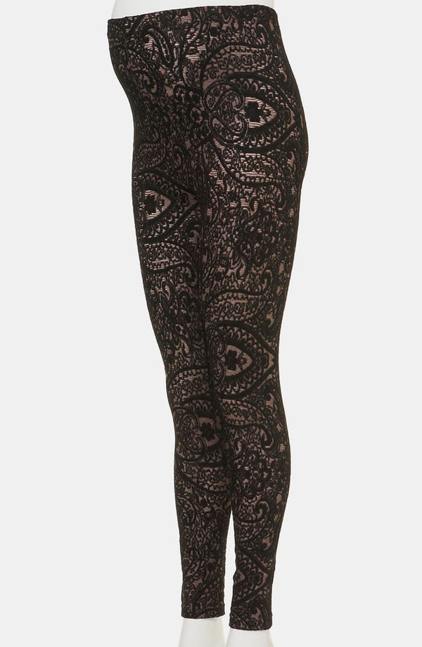 Alternate Image 2  - Topshop Lace Maternity Leggings