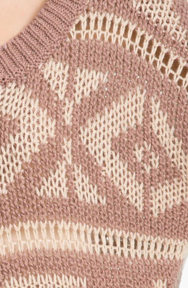 Alternate Image 3  - Rubbish® Fair Isle Sweater (Juniors)