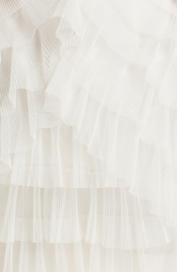 Alternate Image 3  - BCBGMAXAZRIA Strapless Mesh Tier Satin Dress