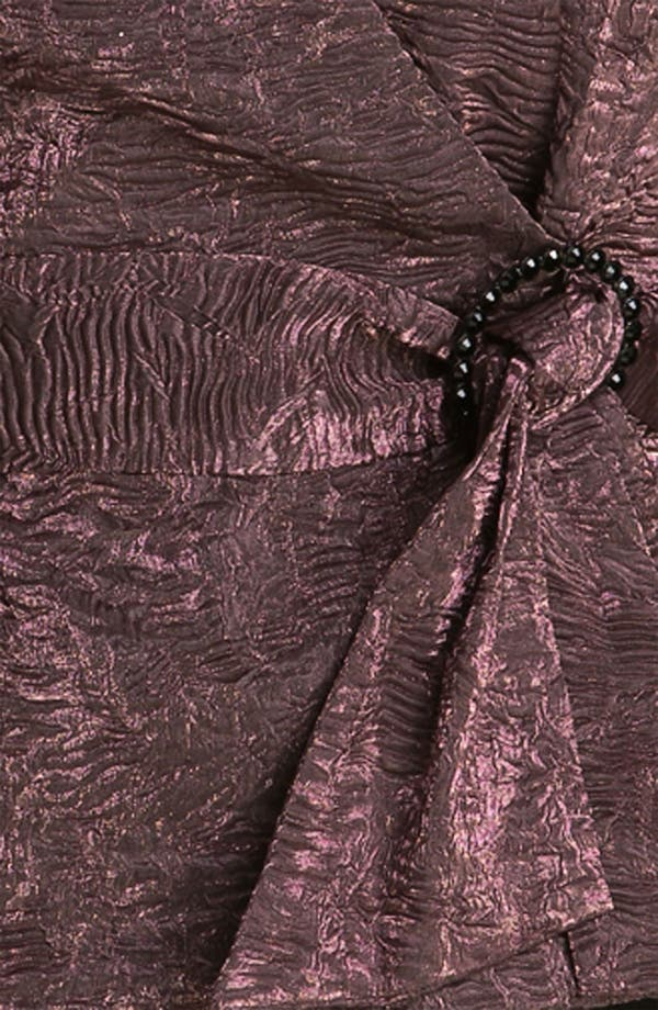 Alternate Image 3  - Alex Evenings Faux Wrap Crepe Blouse (Plus)
