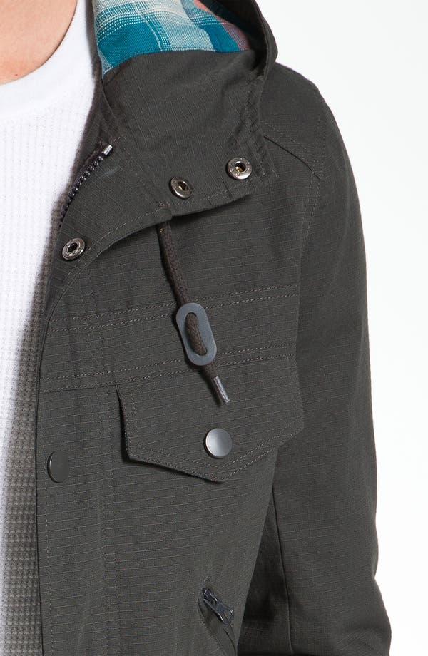 Alternate Image 3  - Kane & Unke Ripstop Cotton Trim Fit Hooded Jacket