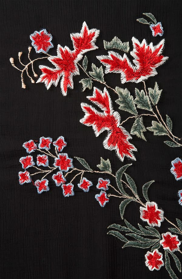 Alternate Image 3  - Topshop Embroidered Sheer Shirt