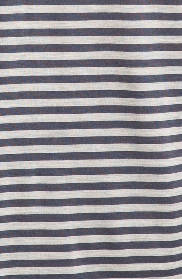 Alternate Image 3  - Daniel Buchler Silk Blend Heathered Stripe T-Shirt