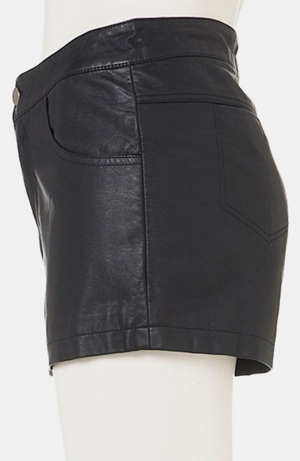 Alternate Image 4  - Topshop Faux Leather Shorts