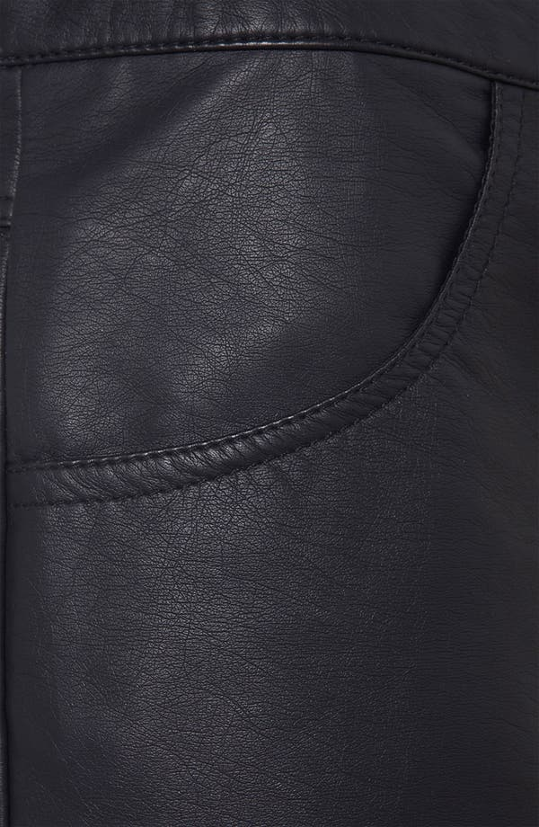Alternate Image 3  - Topshop Faux Leather Shorts