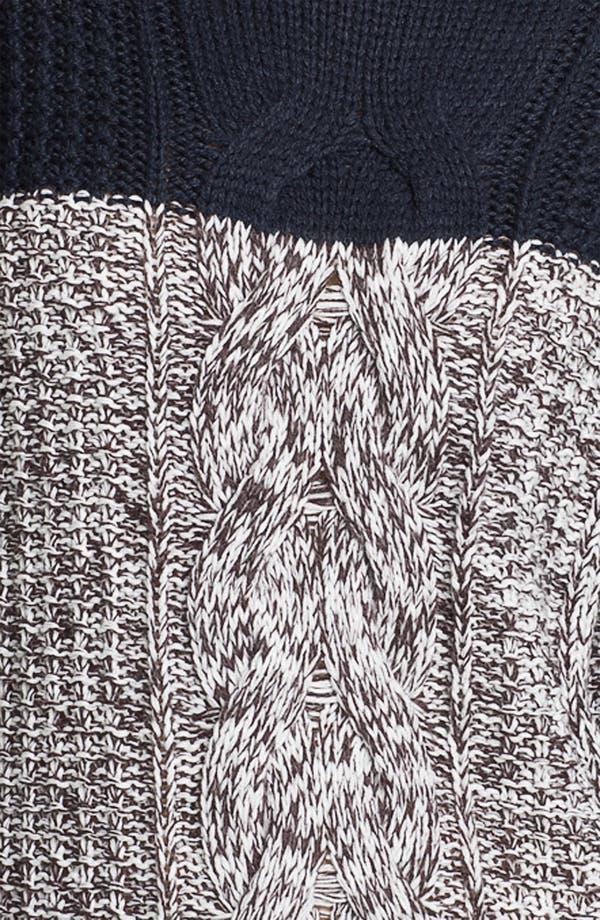Alternate Image 3  - Trouvé Colorblock Cable Sweater