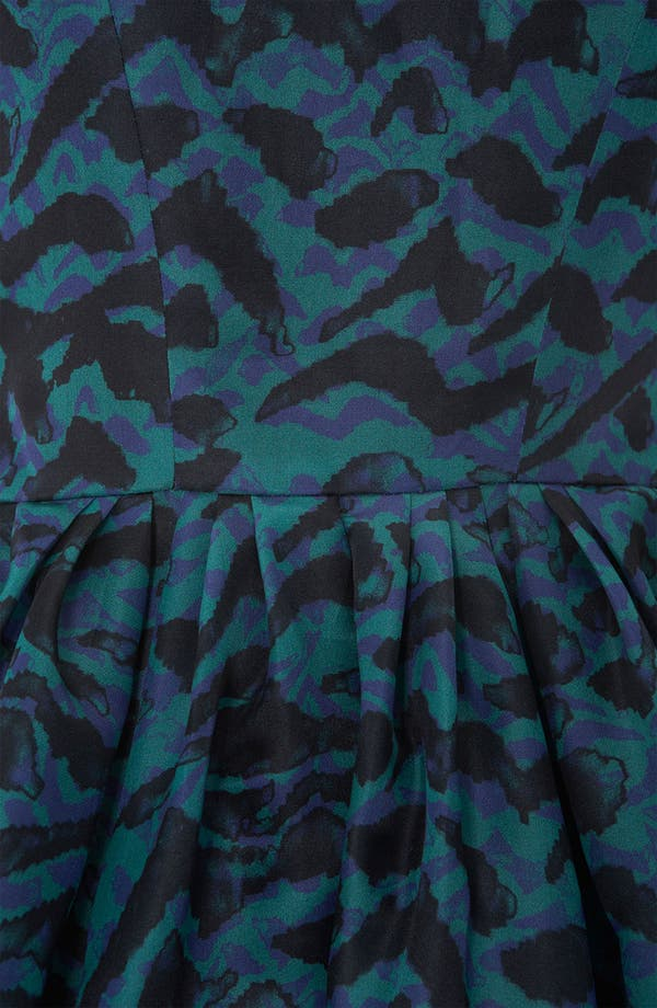 Alternate Image 3  - Topshop Abstract Print Silk Tulip Dress