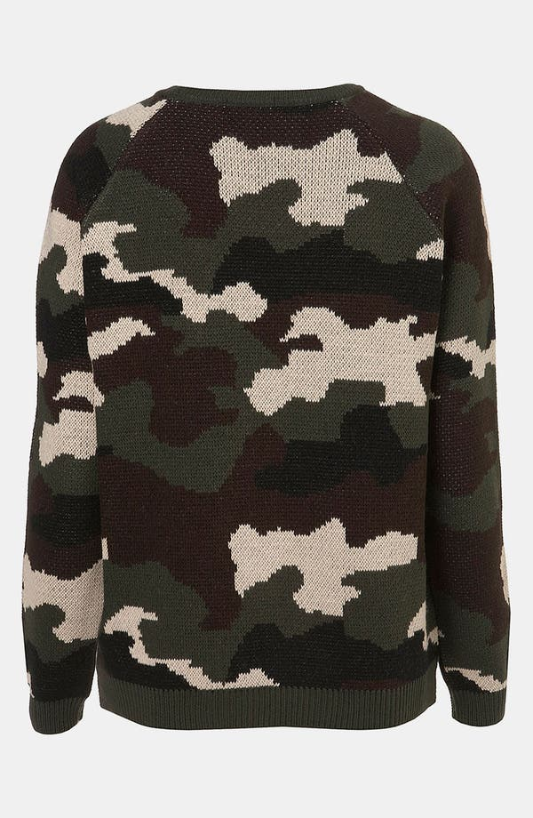 Alternate Image 2  - Topshop Camouflage Sweater
