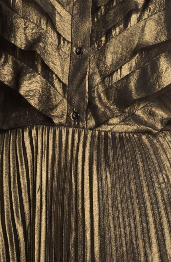Alternate Image 3  - Mcginn 'Nalia' Pleated Metallic Dress