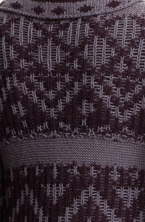Alternate Image 3  - Rubbish® Draped Nordic Knit Cardigan (Juniors)
