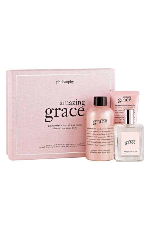 Alternate Image 1 Selected - philosophy 'amazing grace' fragrance layering collection ($77 Value)