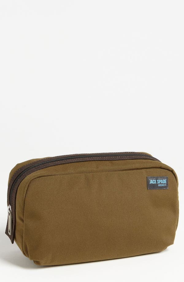Alternate Image 1 Selected - Jack Spade 'Trad' Nylon Canvas Toiletry Bag