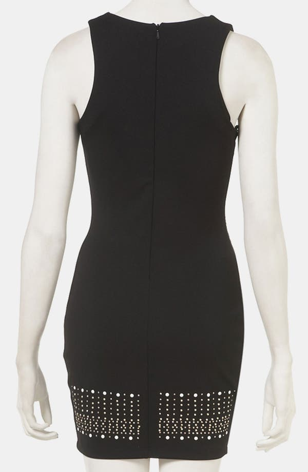 Alternate Image 2  - Topshop Studded Body-Con Dress (Petite)
