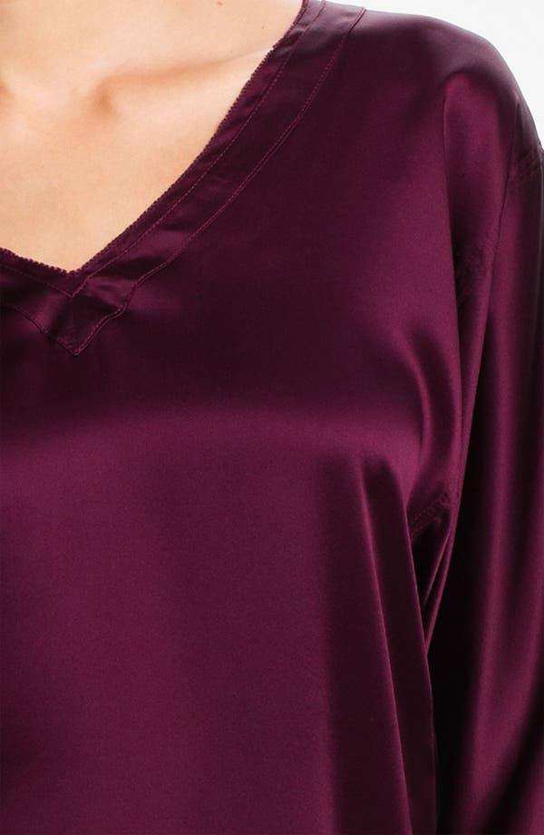 Alternate Image 3  - Donna Karan 'Glamour' Silk Pajamas