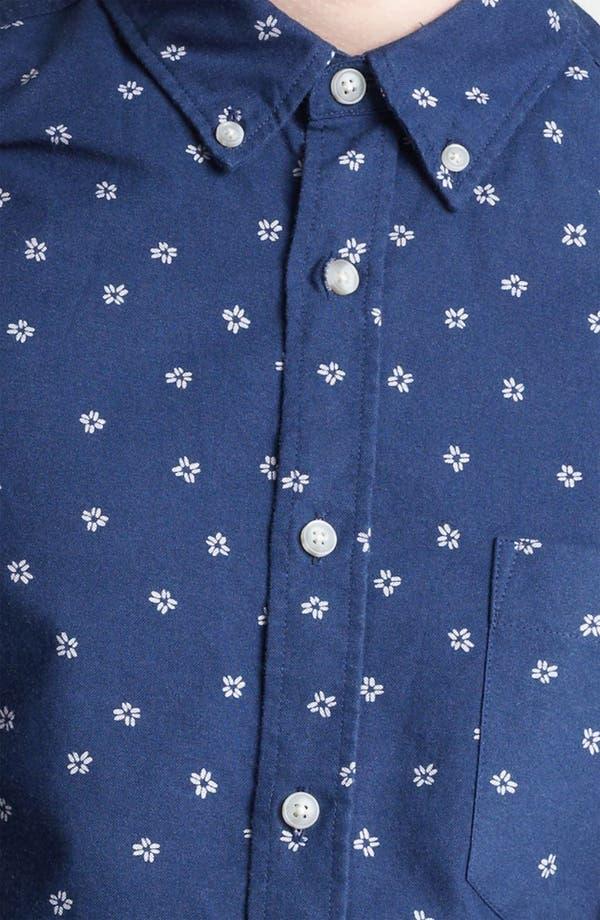 Alternate Image 3  - Topman Floral Motif Woven Shirt